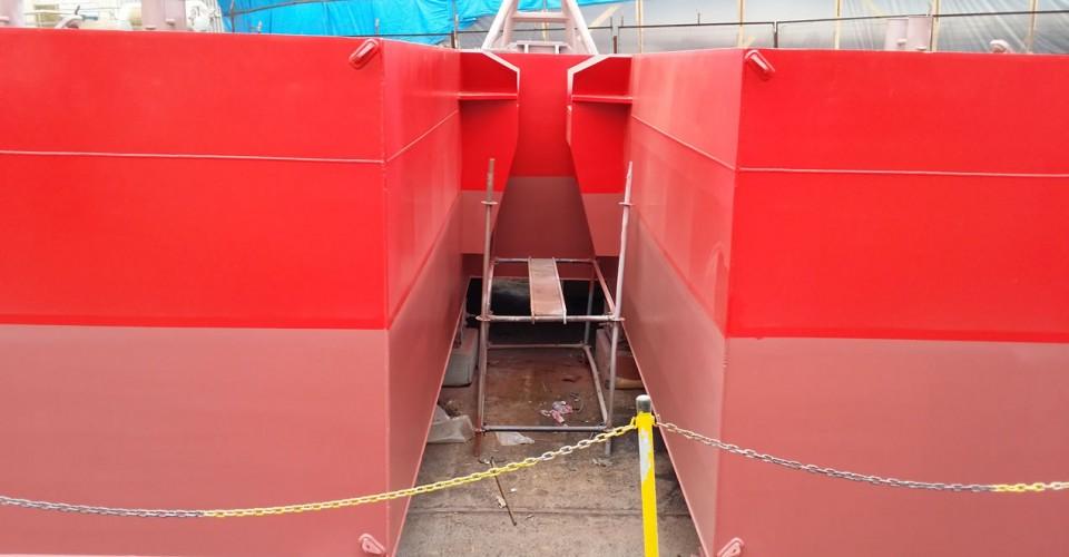 NB44 Anchor Pontoon Barge